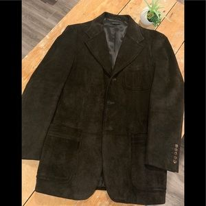 Gucci men's 💯 dark chocolate suede jacket